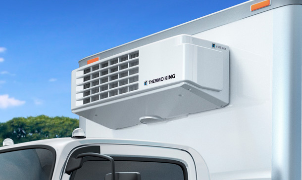 Photo of Thermo King truck unit mounted.