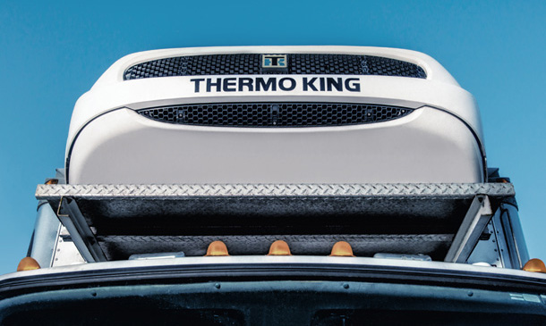 Photo of Thermo King truck unit from ground level.