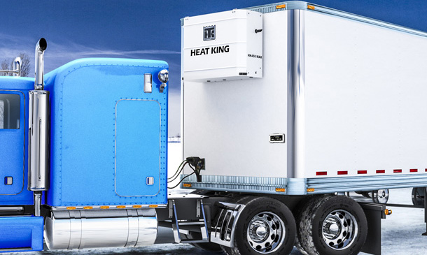 Photo of a Heat King unit on a trailer.
